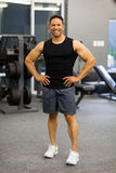 Gym instructor royalty free stock images