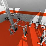 Gym interior Stock Image