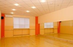 Gym interior. Gym brand new training room unmanned interior Stock Photo