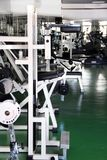 Gym interior. Modern gym interior with various equipment inside Stock Photography