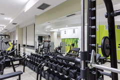 Gym interior Royalty Free Stock Photo
