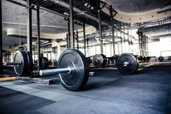 Gym interior with equipment. Closeup image of a gym interior with equipment Royalty Free Stock Image