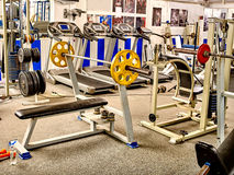 Gym interior with treadmill equipment Royalty Free Stock Images