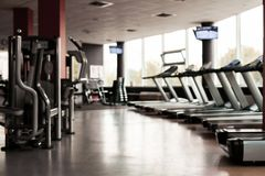 Gym Interior With Equipment Stock Photography