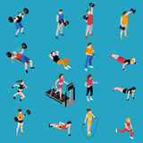 Gym Isometric Icons Set Royalty Free Stock Photo