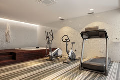 Gym and Jacuzzy Stock Image