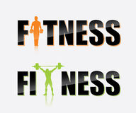 Gym label. Vector illustration of gym labels Royalty Free Stock Image