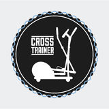 Gym label design Royalty Free Stock Image