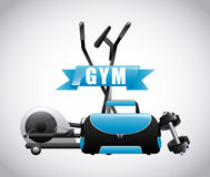 Gym label design Stock Photography