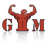 Gym label Stock Image