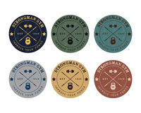 Gym logo color set in vintage style Royalty Free Stock Image