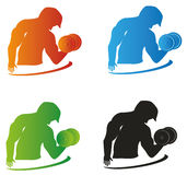 Gym Logo With Different Colors. Gym logo can be used for icons, avatars and other designs Stock Photography