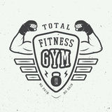 Gym logo, label and or badge vintage style. Stock Image