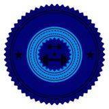 Gym logo. Vector illustration. Bodybuilding, athletic club Royalty Free Stock Images