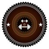 Gym logo. Vector illustration. Bodybuilding, athletic club Stock Images