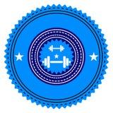 Gym logo. Vector illustration. Bodybuilding, athletic club Stock Photography