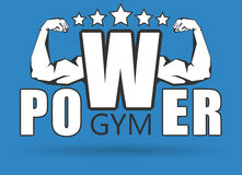 Gym logo Royalty Free Stock Photography