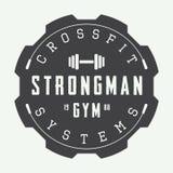 Gym logo in vintage style. Royalty Free Stock Photos