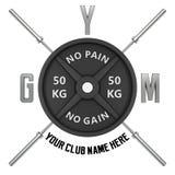 Gym logo w 3d stylu Zdjęcie Royalty Free
