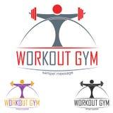 Gym Logo. Gym workout concept logo symbol illustration Stock Photo