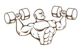Gym mężczyzna wektor royalty ilustracja