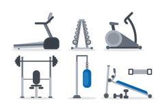 Gym machines set. Stock Photos
