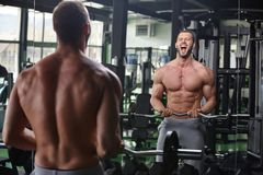 Gym man Stock Images