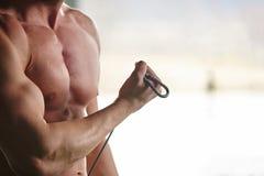 Gym man Stock Image