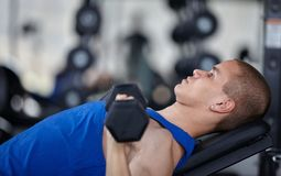 Gym man Royalty Free Stock Images