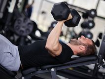 Gym man Stock Image