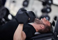 Gym man Stock Photo
