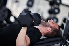 Gym man Stock Photos