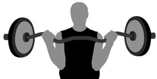 Gym man with barbell. Vector Stock Images