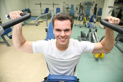 Gym man in health club Royalty Free Stock Photos