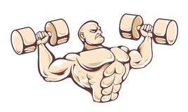 Gym Man Vector Royalty Free Stock Photos