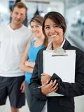 Gym manager Stock Image