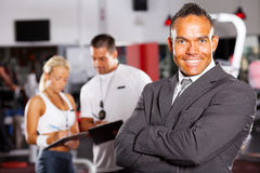 Gym manager Royalty Free Stock Image