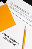 Gym Membership Application Royalty Free Stock Photo