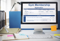 Gym Membership Application Form Request Concept Royalty Free Stock Photography
