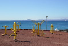 Gym na plaży Zdjęcie Stock