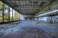 Gym no palácio da cultura em Pripyat Foto de Stock Royalty Free