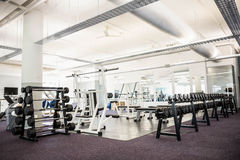 Gym with no people. Interior Stock Photos