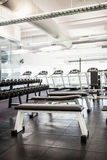 Gym with no people. Interior Stock Photo
