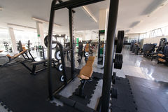 Gym With No People Interior Stock Photo