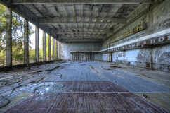 Gym in Palace of Culture in Pripyat Royalty Free Stock Photo