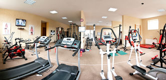 Gym panorama Royalty Free Stock Photo