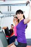 Gym people doing strength or fitness training. Happy, young women doing strength or sports training in gym for a better fitness Royalty Free Stock Photography