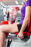 Gym people doing strength or fitness training. Happy, young women doing strength or sports training in gym for a better fitness Royalty Free Stock Photo