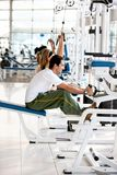 Gym People Exercising Royalty Free Stock Photos