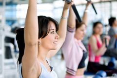 Gym people exercising Royalty Free Stock Photo